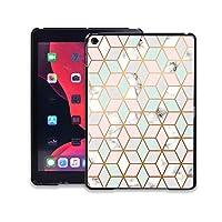 for Apple for iPad 2019 7th 10.2インチマルチカラー軽量で持ち運びに便利なノートブックケース用耐落下タブレットカバーケース-geometric marble-for iPad 2019 7th 10.2