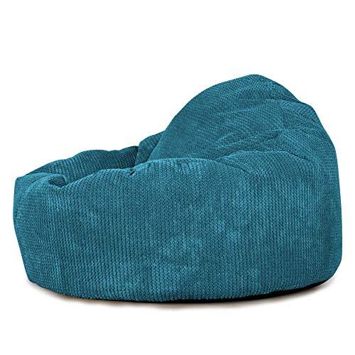 Lounge Pug®,'Mini-Mammoth' Sitzsack, Sessel, Pom-Pom Türkis