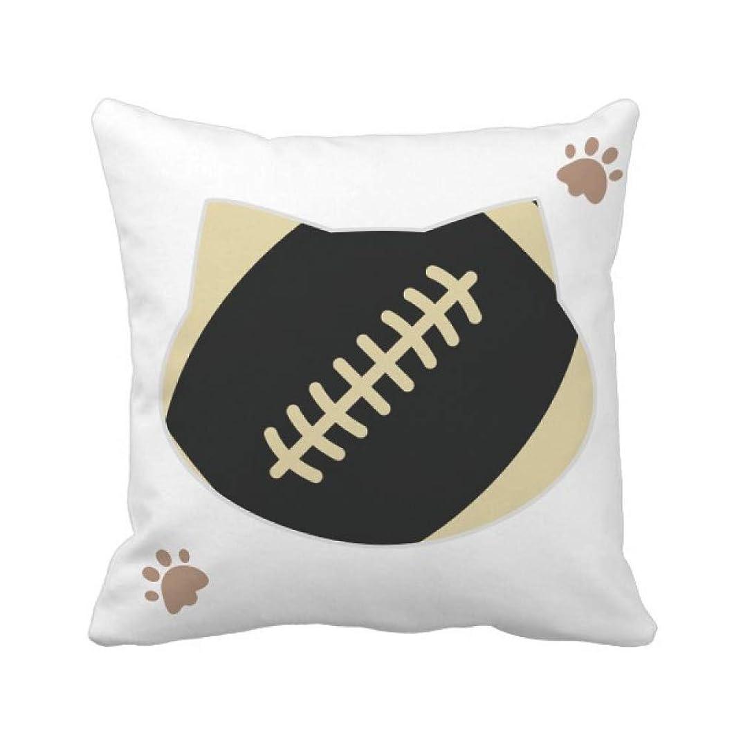 石膏不平を言う拡声器フットボールのスポーツは、単純な幾何学のパターン 枕カバーを放り投げる猫広場 50cm x 50cm