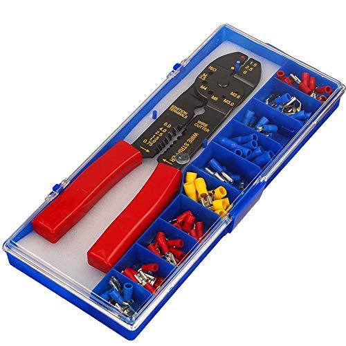 ORNO AE-13136 Kabelschuhe Set mit Crimper mehrfarbig (mit einer Crimper)