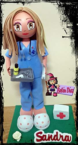 Fofucha personalizada Enfermera uniforme azul