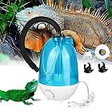 Humidificador de reptiles 4L, tanque de agua 4L sin ruido niebla fría que hace la máquina con botón ajustable para lagartos camaleones serpientes terrario Enchufe de la UE 100-240V(Enchufe de la UE)