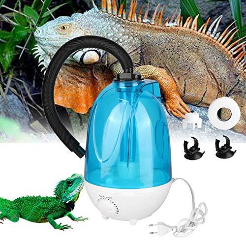 HEEPDD 3L Reptiele luchtbevochtiger, 3L waterreservoir geen lawaai cool mistmachine met verstelbare knop voor echsenchameleon slangen terrarium EU stekker 100-240V, 4 liter.