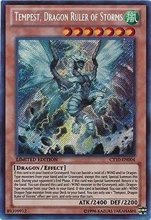 YU-GI-OH! Yugioh Tempest Dragon Ruler of Storms CT10-EN004 Secret Rare Card