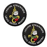 Ohrong Parche de Legión Extranjera Francesa Legión Etrangere Táctica Militar Insignia Brazalete Emblema Moral Aplique para gorras, Bolsos, chalecos uniformes