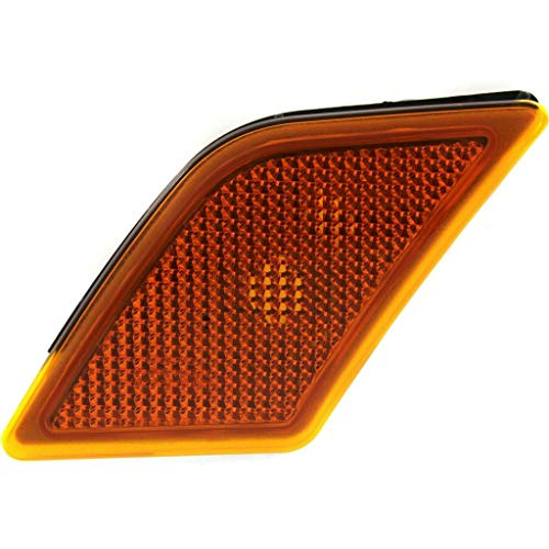CarLights360: For 2008 09 10 2011 Mercedes-Benz C300 Side Marker Light Assembly Driver Side - CAPA Certified Replacement for MB2554100