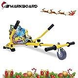 MARKBOARD HoverKart pour Self-Balance Scooter / Kart Siège pour Gyropode, Scooter Électrique, Ajustable Compatible avec Scooter 6.5', 8.5', 10' Scooters (Hip)