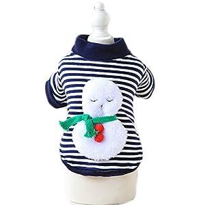 Bonhomme de neige de Noël de chien et chat Costume tenues Vêtements d'hiver chaud Chien Chat Manteau Veste Chien Sweat à capuche pour homme