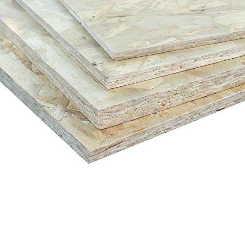 Pannello OSB-3 in legno di pioppo resistente in ambienti umidi 12 mm - misure 125x250 - 125x125 - 62x125 cm (125x250 cm)