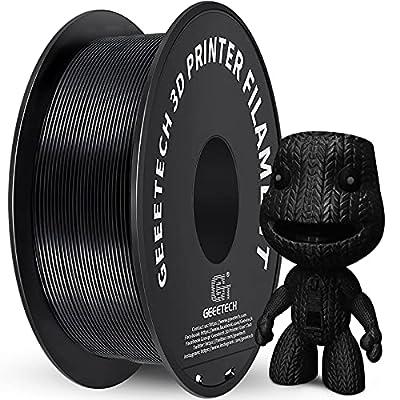 PLA Filament 1.75mm Black, GEEETECH New 3D Printing Filament PLA for 3D Printer and 3D Pen, 1kg 1 Spool
