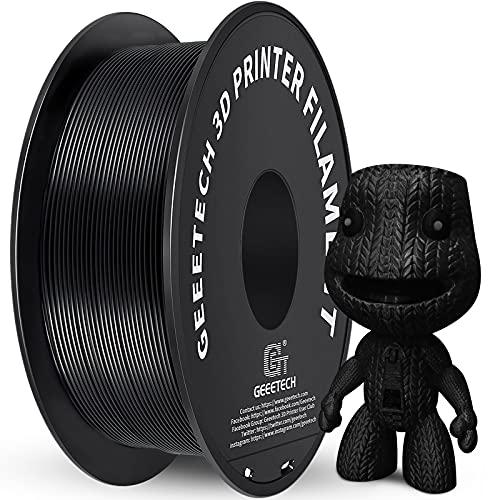 Geeetech PLA Filament 1,75 mm, 3D Drucker PLA Filament,1 kg pro Spule, 1 Spulen, Schwarz