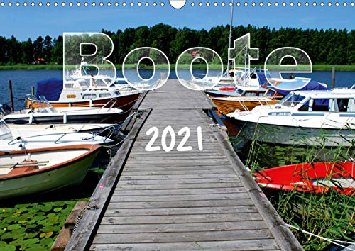 Boote (Wandkalender 2021 DIN A3 quer)