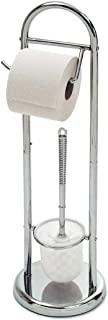 Escobillero con Portarrollos de Papel Higienico Metalizado HERSIG Escobillero Portarrollos Ba/ño