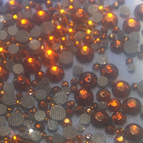 100 Gros Strass S20 hotfix Ø 5mm Bling Couleur n°115 CUIVRE