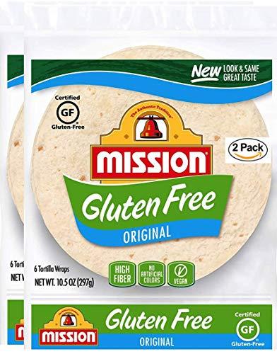 Mission Gluten Free Soft Taco Tortillas, Trans Fat Free, High Fiber, 6 Count - 2 Packs