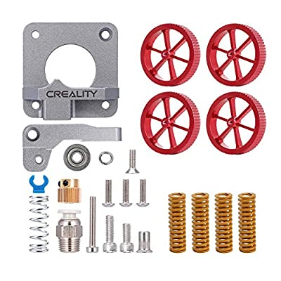 Creality 3D Printer Upgraded Kits with 1 PCS Metal Extruder, 4PCS Hot Bed Hand Twist Leveling Nuts, 4PCS Heated Bed Leveling Die Spring for 3d printer