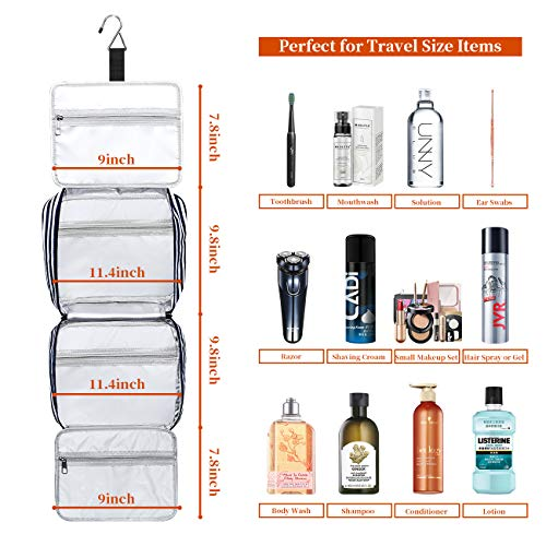 51A7 t7NqjL - Hanging Travel Toiletry Bag,Large Capacity Cosmetic Travel Toiletry Organizer for Women with 4 Compartments & 1 Sturdy Hook,Perfect for Travel/Daily Use/Valentines Day