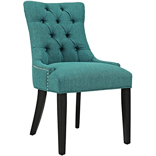 Modway Regent Modern Elegant Button-Tufted Upholstered Fabric With Nailhead Trim, Dining Side Chair, Teal -  EEI-2223-TEA