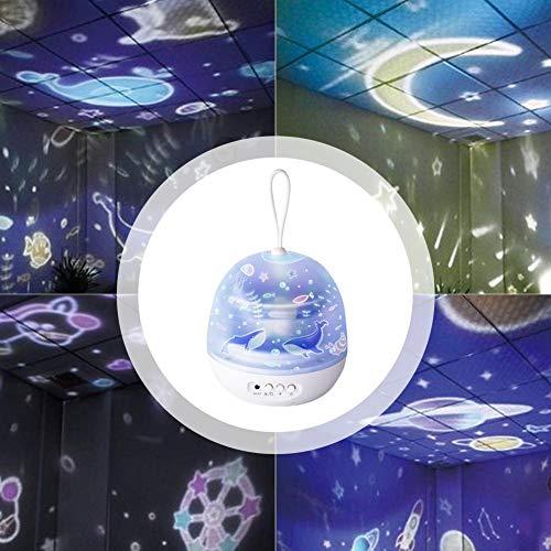 Augproveshak Lampe de Nuit Projecteur, Projecteur avec Lampe Etoiles 4 Modes réglable, Underwater World Lampe de Projecteur, Cadeaux Uniques pour Les Enfants, bébé, Chambre