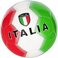 Pallone da Calcio Italia con Bandiera Italiana Taglia 5 Colore Verde/Bianco/Rosso