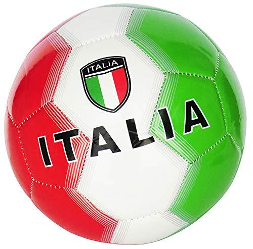 Pallone da Calcio Italia con Bandiera Italiana Taglia 5 Colore Verde Bianco Rosso