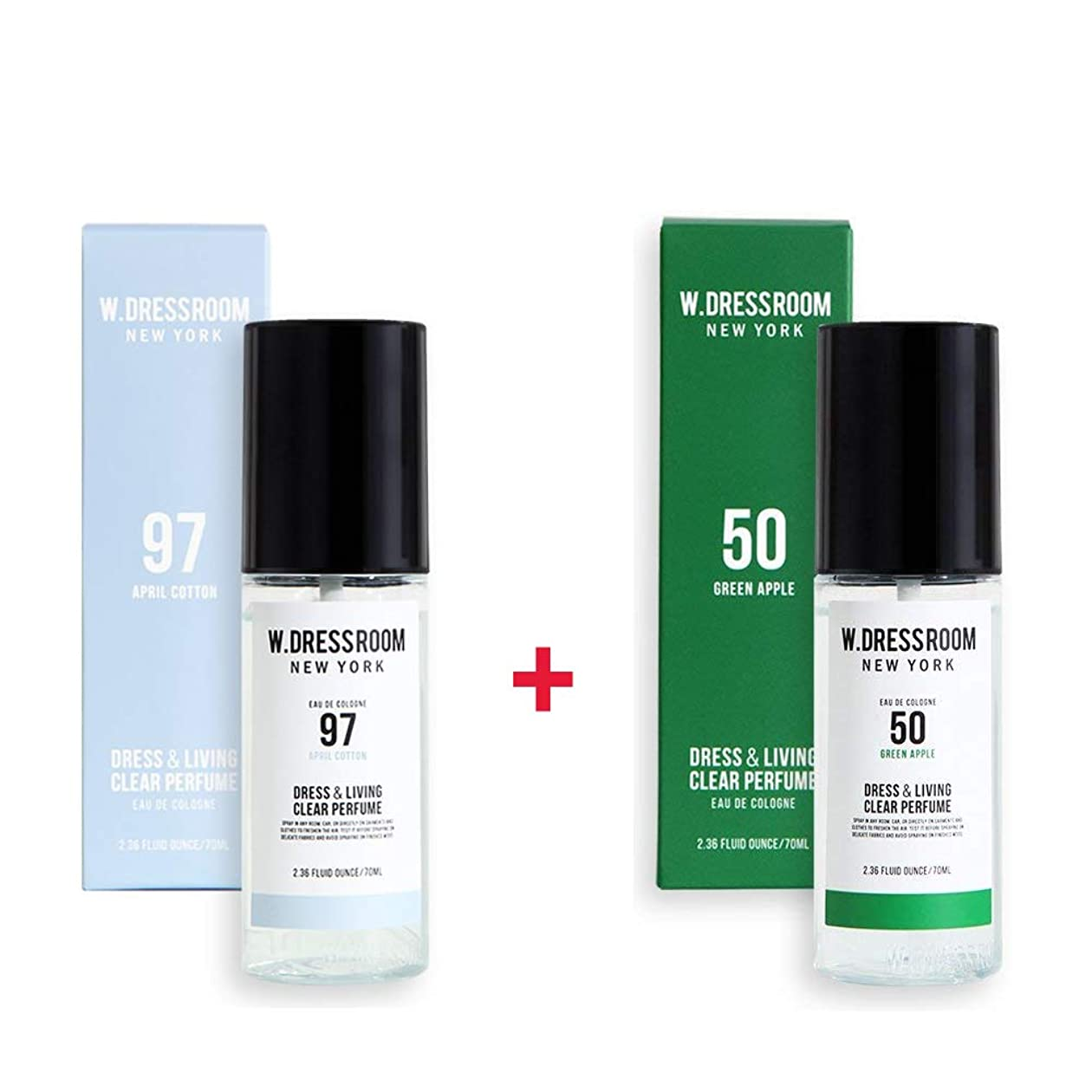 香水ぴかぴか誤解W.DRESSROOM Dress & Living Clear Perfume 70ml (No 97 April Cotton)+(No 50 Green Apple)