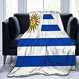 tyui7 Bandera de Uruguay Manta Suave cálida y acogedora Manta de Lana de Franela Ligera para sofá Cama sofá Silla