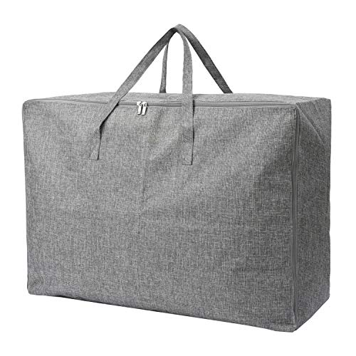 Polecasa 105L Extra Large Storage Bag with Zipper and Handles - Heavy Duty Moving Bag,No Smell, Under bed Storage Bag, Closet Organizers and Storage for Blankets, Clothes, Comforters, Pillows
