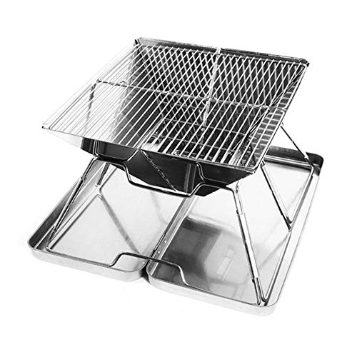 BBQ Fornuis Draagbare Hout Fornuis Roast Houtskool Oven Outdoor RVS Vouwen Grill Outdoor Equipment outdoor rugzak waterdicht