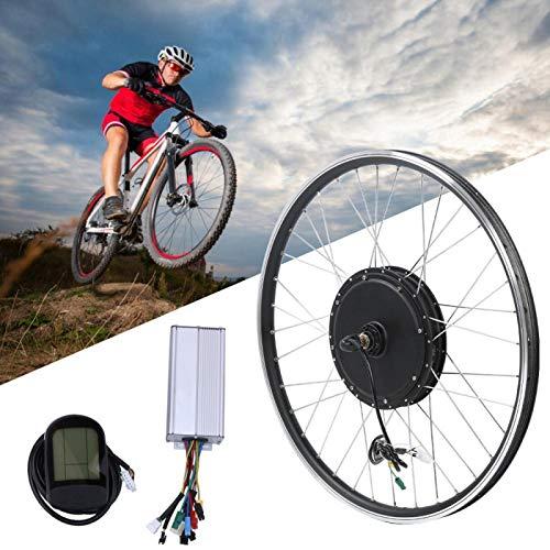 Kit eléctrico de conversión de bicicleta, kit de conversión de bicicleta eléctrica, kit eléctrico de conversión de bicicleta de montaña, 48 V, 1000 W, 700 '' LCD, medidor de instrumentos, tracción del