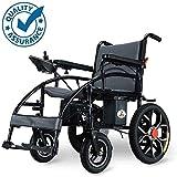 Perseverancia Silla de ruedas eléctrica, 12A de litio inteligente plegable automática, respaldo ajustable motorizada scooter de sillas de ruedas eléctricas, personas mayores y discapacitadas wsl richa