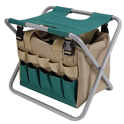 Omabeta Silla Plegable, Resistente al desgarro, Herramienta de jardín, Taburete de Camping para Suministros para Acampar al Aire Libre