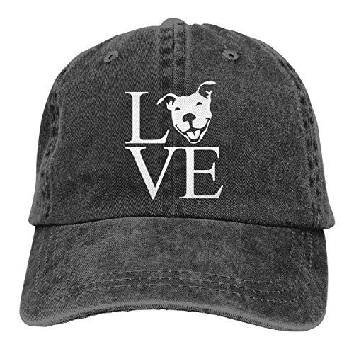 XCNGG Gorra de béisbol Ajustable para Hombre/Mujer Love Pit Bull Denim Jeanet