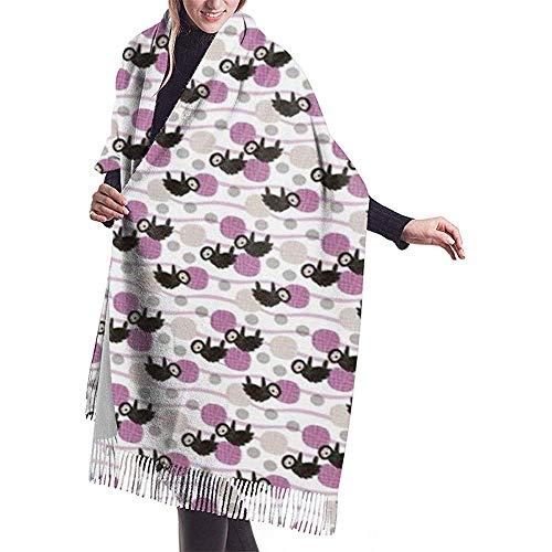 Bufanda adorable de cachemira con estampado de bebé pequeño para mujer Bufanda cálida informal Chal grande