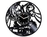 Kovides Horses Vinyl Record Wall Clock Animal Vinyl Clock Birthday Gift for Men Horses Wall Clock Modern Nature Gift Horses Clock Animal Wall Art Nature Home Decor Xmas Gift Idea