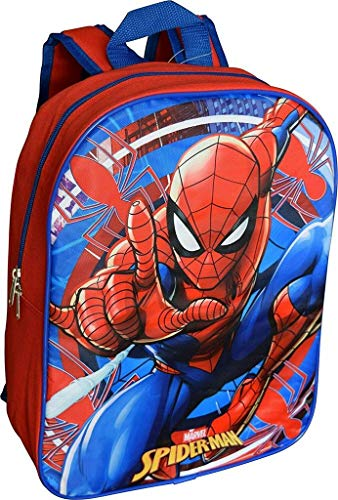 Marvel Spiderman 15' School Bag Backpack (Red-Blue)