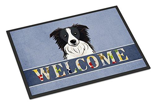 Caroline's Treasures BB1427MAT Border Collie Welcome Indoor or Outdoor Mat 18x27, 18H X 27W, Multicolor