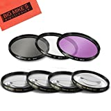 52mm 7PC Filter Set for Nikon D3100, D3200, D3300, D5100, D5200, D5300, D5500 with NIKKOR 18-55mm f/3.5-5.6G VR II Lens - Includes 3 PC Filter Kit (UV-CPL-FLD) and 4 PC Close Up Filter Set (+1+2+4+10)
