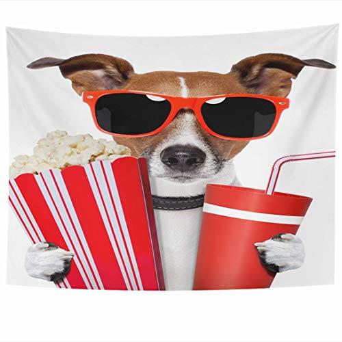 Tapices para colgar en la pared Comer Entretenimiento Teatro para perros Animales Mascota Coca Cola...
