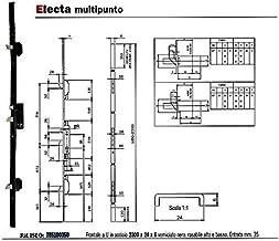 Cerradura para aspiradoras multipunto e.35/con frontal de U