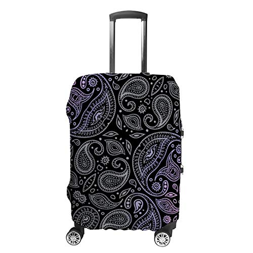 Travel Luggage Cover Paisley Pattern Suitcase Protector Fits 26-28in Luggage Washable Baggage Protective Cover