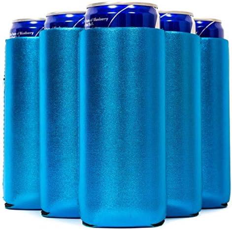QualityPerfection Slim Can Cooler Sleeves Beer Energy Drink Blank Skinny 12 oz Neoprene Coolie product image