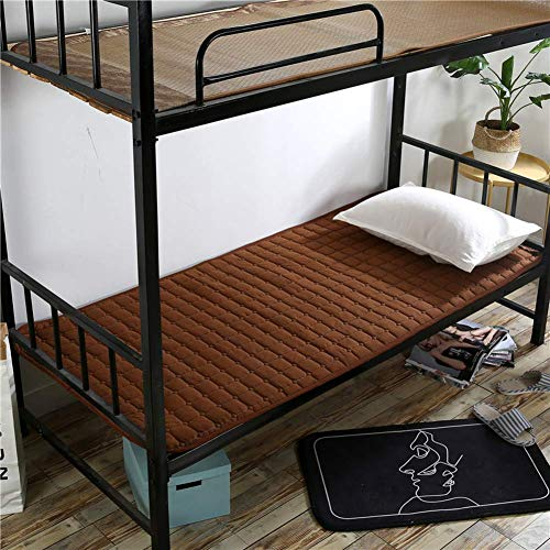 Anzkzo Anti-bacterial Japanese Futon Mattress Single Double Floor mat Anti-bacterial Mattress Quilting Soft Hotel Student Dormitory Sleeping-90x200cm(35x79inch) B.