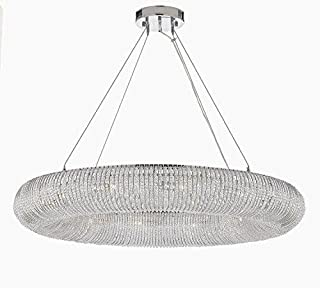 "Crystal Ring Chandelier Modern/Contemporary Lighting Floating Orb Chandelier 60"" Wide - Good for Dining Room, Foyer, Entryway, Family Room and More!"