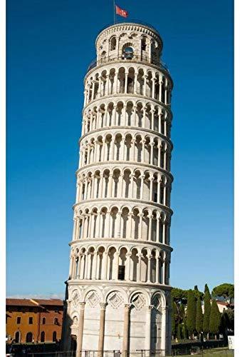 Torre Inclinada De Pisa 5D Diy Pintura De Diamante Diamantes Brillantes Taladro Completo Diamante Redondo Decoraciones Y Regalos Sin Terminar