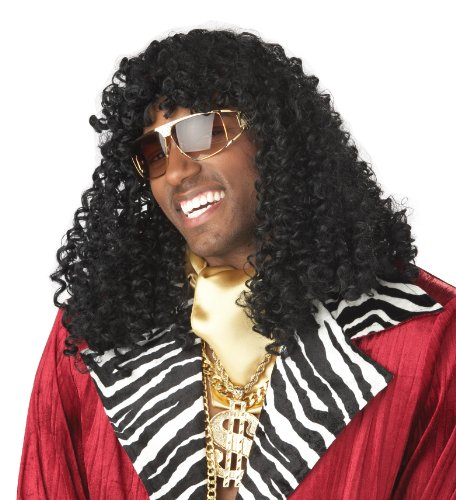 California Costumes Men's Supa' Freakin Wig,Black,One Size