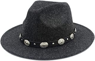 2019 Mens Womens Hats Womens Authentic Wool Fedora Hat for Women Lady Outdoor Travel Casual with Punk Belt Pop Panama Hat Wide Brim Church Hat Fascinator