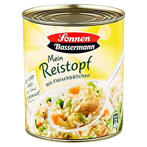 Sonnen Bassermann Mein Reistopf mit Fleischbällchen, 6 x 800 g