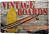 Sports Tin Sign Metal Sign Plate Decorative Plaques Vintage Skateboards Metal Plate for Garage Man Cave Beer Cafe Bar Pub Club Home Decor 8