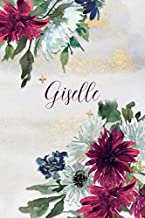 Giselle: Personalized Journal Gift Idea for Women (Burgundy and White Mums)